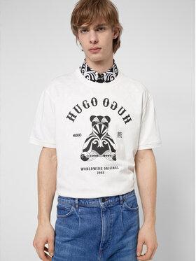 Hugo Hugo Póló Duto 50446368 Fehér Regular Fit