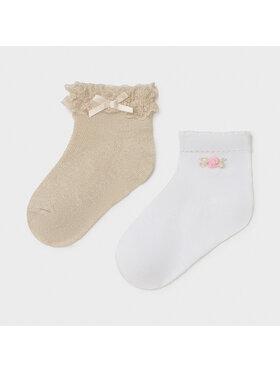 Mayoral Mayoral Комплект 2 чифта тричетвърти детски чорапи 10011 Сив