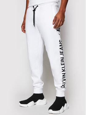 Calvin Klein Jeans Calvin Klein Jeans Sportinės kelnės Vertical Logo J30J318306 Balta Regular Fit