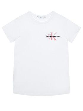 Calvin Klein Jeans Calvin Klein Jeans Tričko Chest Monogram IG0IG00573 Biela Regular Fit