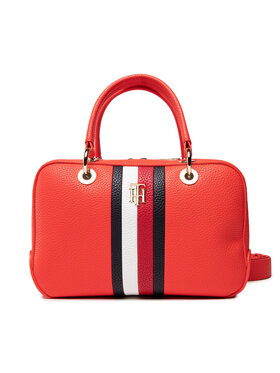 Tommy Hilfiger Tommy Hilfiger Handtasche Th Essence Med Duffle Corp AW0AW10228 Rot