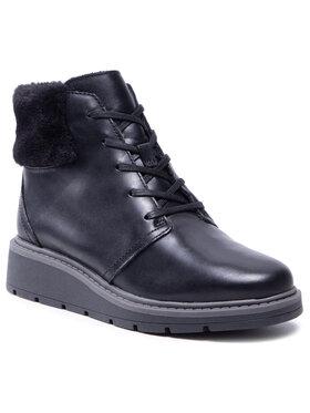 Clarks Clarks Členková obuv Leighly Lace 261600704 Čierna