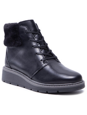 Clarks Clarks Μποτάκια Leighly Lace 261600704 Μαύρο
