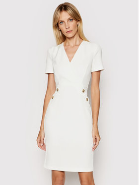 Pinko Pinko Коктейлна рокля Quinto 1G1629 Y6ZJ Бял Regular Fit