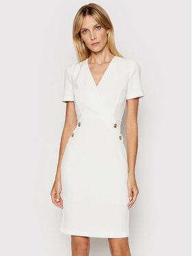 Pinko Pinko Koktejlové šaty Quinto 1G1629 Y6ZJ Bílá Regular Fit