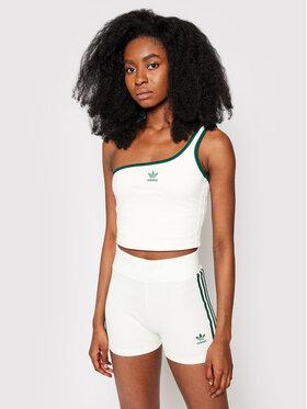 adidas adidas Marškinėliai Asymmetric H56465 Balta Regular Fit