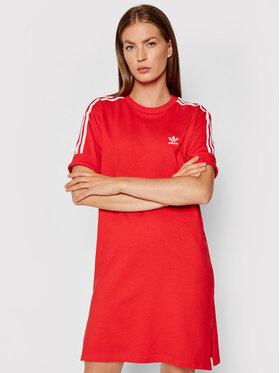 adidas adidas Každodenní šaty adicolor Classics Roll-Up H35505 Červená Loose Fit