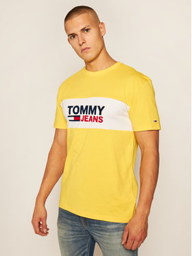 Tommy Jeans Tommy Jeans Tričko Pieced Band Logo Tee DM0DM08360 Žltá Regular Fit