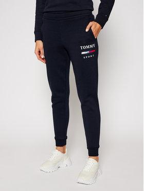 Tommy Sport Tommy Sport Spodnie dresowe Graphic S10S100699 Granatowy Slim Fit