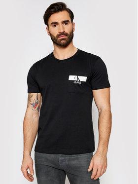 Calvin Klein Jeans Calvin Klein Jeans Tričko J30J317671 Čierna Regular Fit