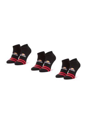 Ellesse Ellesse Lot de 3 paires de chaussettes basses homme Melna SAAC0876 Noir