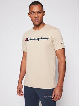 Champion Champion T-shirt Logo 214194 Beige Comfort Fit