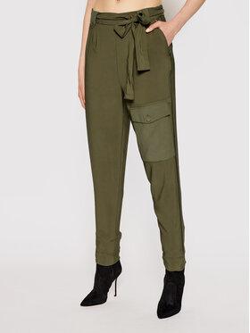 TwinSet TwinSet Παντελόνι υφασμάτινο 211TT2161 Πράσινο Regular Fit