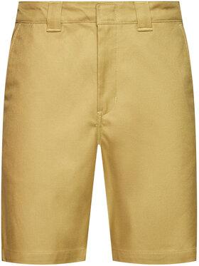 Dickies Dickies Pantalon scurți din material Cobden DK0A4XESKHK Verde Regular Fit
