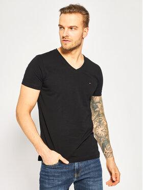 Tommy Hilfiger Tommy Hilfiger T-Shirt MW0MW02045 Černá Slim Fit