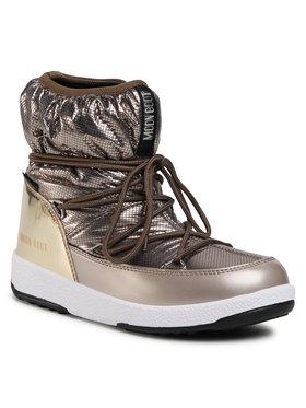 Moon Boot Moon Boot Sniego batai Jrgirl Low Nylon Premium Wp 34052300001 D Auksinė