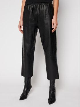 Pinko Pinko Кожени панталони Toast 2 PE 21 BLK01 1G15WY Y638 Черен Straight Fit