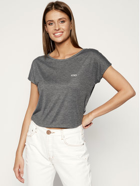 Roxy Roxy T-Shirt Happy Memories Cropped Tie ERJZT04864 Grau Regular Fit