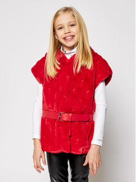 Guess Guess Gilet J0BN01 WDDT0 Rouge Regular Fit