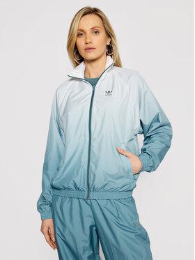 adidas adidas Átmeneti kabát adicolor 3D Trefoil GN2813 Zöld Regular Fit
