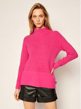 Calvin Klein Calvin Klein Bluză cu gât Ls Lurex K20K202252 Roz Regular Fit