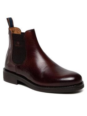 Gant Gant Členková obuv s elastickým prvkom Brookly 23651179 Hnedá