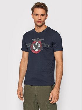 Aeronautica Militare Aeronautica Militare T-Shirt 212TS1901J511 Granatowy Regular Fit