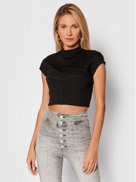 Guess Guess Блуза Francesca W1BP16 K8RN0 Черен Slim Fit