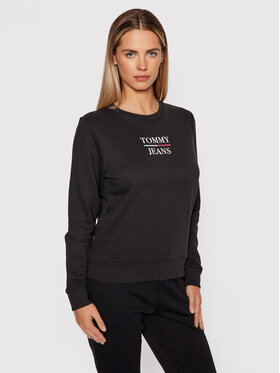 Tommy Jeans Tommy Jeans Pulóver Terry DW0DW09663 Fekete Slim Fit