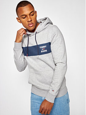 Tommy Jeans Tommy Jeans Džemperis Essential Graphic DM0DM07929 Pilka Regular Fit