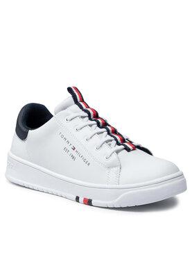 Tommy Hilfiger Tommy Hilfiger Sneakersy Low Cut Lace Up Sneaker T3B4-32052-0193 S Biały