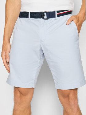 Tommy Hilfiger Tommy Hilfiger Pantalon scurți din material Brooklyn Light Twill MW0MW18828 Albastru Regular Fit