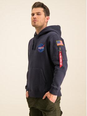 Alpha Industries Alpha Industries Sweatshirt Nasa 178317 Bleu marine Regular Fit