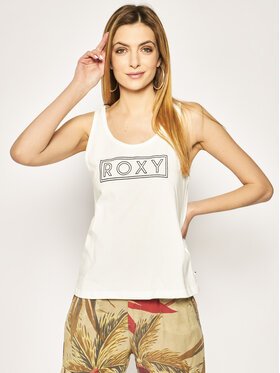 Roxy Roxy Top Closing Party ERJZT04805 Bianco Regular Fit