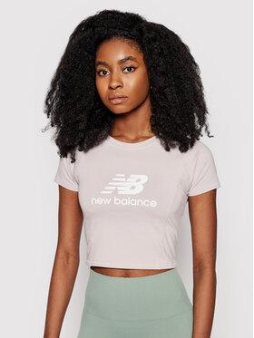 New Balance New Balance T-Shirt Athletics Podium WT03503 Růžová Fitted Fit