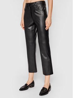 Marella Marella Pantaloni din imitație de piele Valdena 37860218 Negru Regular Fit