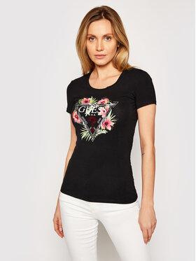Guess Guess T-Shirt Rebecca W1GI0N J1311 Černá Slim Fit