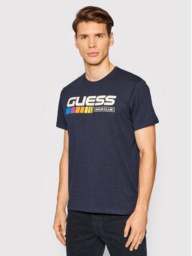 Guess Guess T-Shirt MBBI41 KARC1 Tmavomodrá Regular Fit