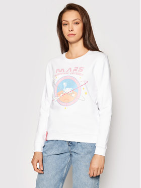 Alpha Industries Alpha Industries Sweatshirt Mission To Mars 126070 Blanc Regular Fit