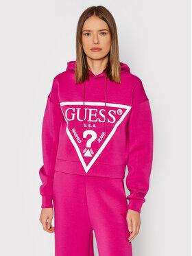 Guess Guess Bluza Alisa O1GA29 KAMN2 Różowy Comfort Fit