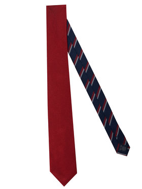 Tommy Hilfiger Tailored Tommy Hilfiger Tailored Krawat Solid Ribbed TT0TT07682 Czerwony