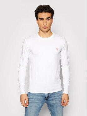 Guess Guess Majica dugih rukava Core M1RI28 J1311 Bijela Super Slim Fit