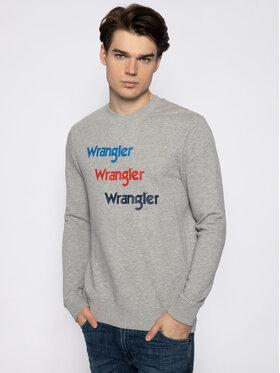 Wrangler Wrangler Суитшърт Seasonal Logo W6A5HAX37 Сив Regular Fit