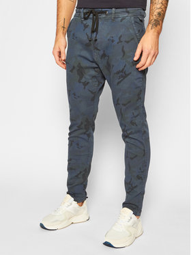 Pepe Jeans Pepe Jeans Jogger kelnės GYMDIGO Johnson Knit PM211367 Tamsiai mėlyna Relaxed Fit