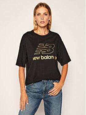 New Balance New Balance T-Shirt Village Stacked Graphic WT03505 Schwarz Oversize