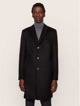 Boss Boss Vlnený kabát Nye2 50438689 Čierna Regular Fit