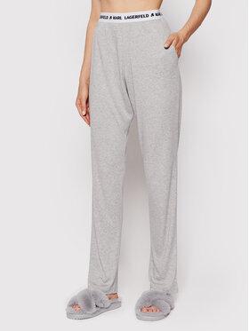 KARL LAGERFELD KARL LAGERFELD Spodnie piżamowe Logo 215W2182 Szary