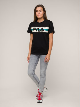 Fila Fila T-Shirt Azrielle Graphic 687222 Μαύρο Regular Fit