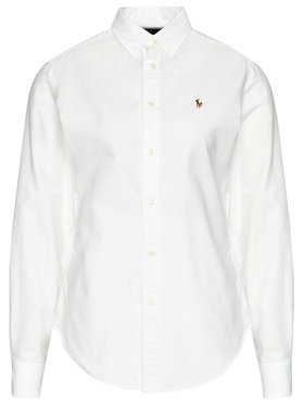 Lauren Ralph Lauren Lauren Ralph Lauren Marškiniai Polo Bsr 211806181003 Balta Classic Fit