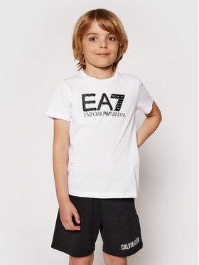 EA7 Emporio Armani EA7 Emporio Armani Marškinėliai 3KBT53 BJ02Z 1100 Balta Regular Fit